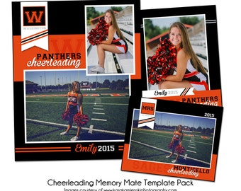CHEERLEADING PACK B - Sports Memory Mate Photo Templates - Digital Files Only