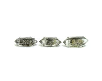 Tibetan Quartz Crystals 3 Double Terminated Stones 16mm - 17mm x 6mm - 7mm Natural Rough Stones (Lot 1205) Natural Mineral