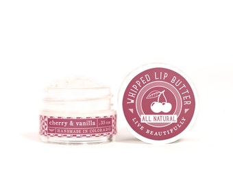 SUMMER SALE - Cherry & Vanilla - Whipped Lip Butter - Natural Icing for Your Lips