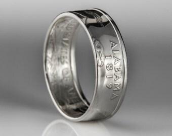 Alabama Quarter - Coin Ring - SILVER (.900)