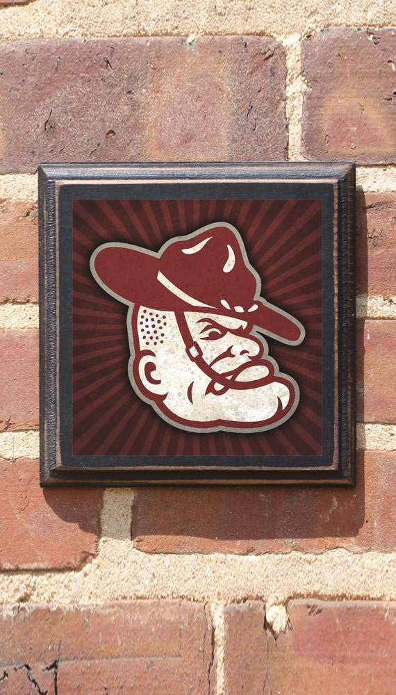 Texas A&M Aggies Ol\' Sarge Logo Football Wall Art Sign Plaque, Gift ...