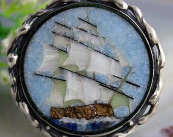 Statement Ring Brigantine Mosaic Ring Sterling Silver Jewelry