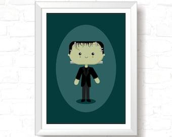 Frankie - Printable Original Illustration, Instant Download, Home Decor, Wall Art, T-shirt graphic, Art Print, Poster Design
