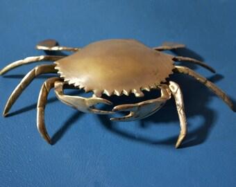 Vintage Brass Crab