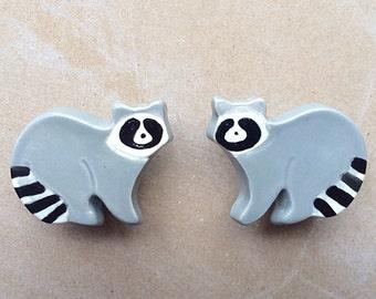 Raccoon- woodland animal furniture knobs
