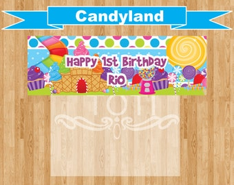 CandyLand Personalized  Favor Bag Toppers (Digital File Only)