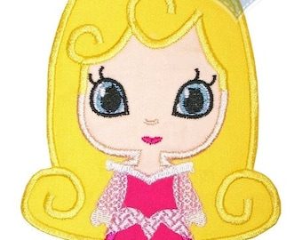 Princess Cutie Applique Embroidered Patch, Iron or sew on