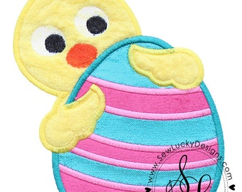 Easter Chick Applique Embroidered Patch, Sew or Iron on