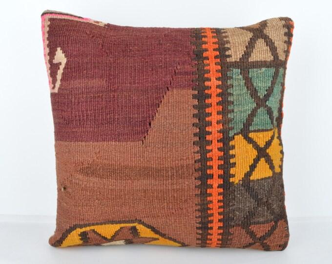 Wool Pillow, Kilim Pillow, KP1054,  Decorative Pillows, Designer Pillows,  Bohemian Decor, Bohemian Pillow, Accent Pillows, Throw Pillows