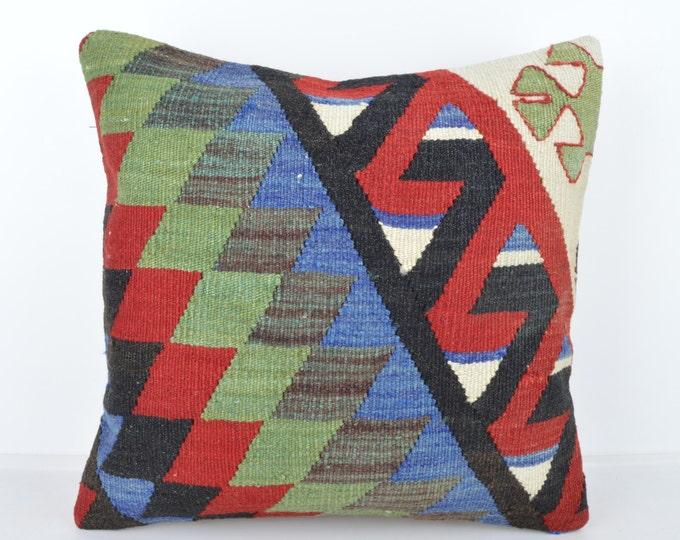 Wool Pillow, Kilim Pillow, KP1154,  Decorative Pillows, Designer Pillows,  Bohemian Decor, Bohemian Pillow, Accent Pillows, Throw Pillows