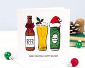 Beer Christmas Card, Beer, Funny Christmas Card, Beer Card, Beer Humor, Funny Holiday Card, Card Pack, New Year Card, Holiday Card Pack