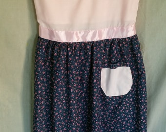 girls sz 12 pink and blue floral dress