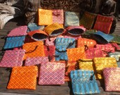 Jewelry Gift Purses,Set Of 50, Wholesale Bags, Lai Thai Fabric Bag, Coin Purse, Tribal Purse , Draw String Bag, Folk Art Bag, Little Bag