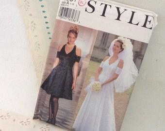 Wedding Dress Pattern - Style 2531 -  sizes 6-16 - 1994 - uncut with factory folds