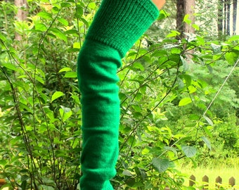Kelly Green Adult Leg Wamers 25 inches