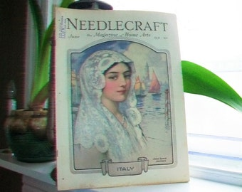1931 Needlecraft Magazine of Home Arts June Issue Vintage 1930s Sewing