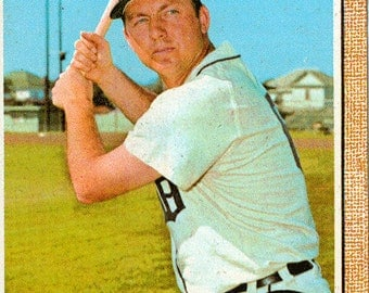 1968 Topps Baseball Card, Al Kaline, Detroit Tigers, Outfield, card 240