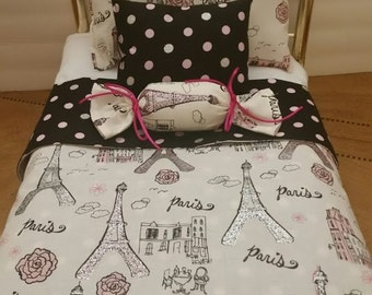 Handmade american Girl Doll  bedding set. 4 pieces.