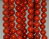 8mm Red Jasper Gemstone Grade AA Red Round 8mm Loose Beads 15.5 inch Full Strand (90189202-B60)