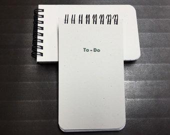 To Do Notepads - Letterpress / Offset