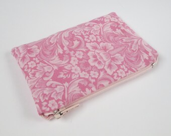 Coin Purse, Pink Floral