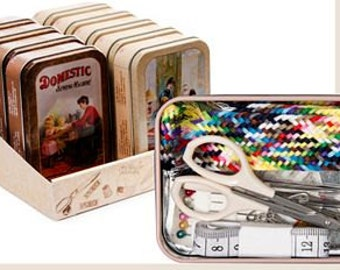 Sewing Kit, Vintage Tin Sewing Kit, Beginner or Travel Sewing Kit