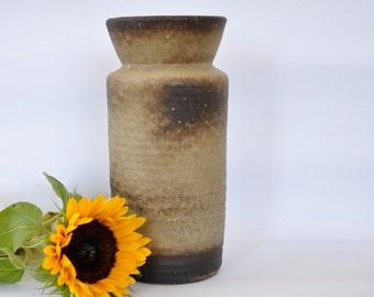 Vest Keramiek fat lava vase | West Germany vase | fat lava pottery | brown fat lava vase
