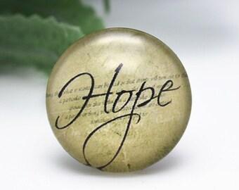 4pcs 25mm Round Handmade Photo Glass Cabochon - Hope