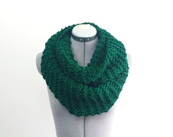 SALE- Rich Green Infinity Scarf