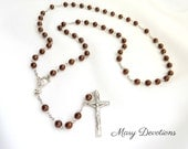 """Bronze Glass """"Most Holy Body and Blood"""" Rosary"""