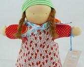 handmade waldorf doll, steiner doll, cuddle doll, 12 inch, doll boy, soft doll, belambolo