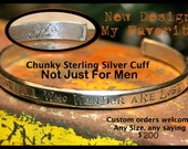 Wide Rounded Sterling Cuff Bracelet