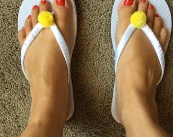 Tinkerbell Flip Flops size Sm 5/6