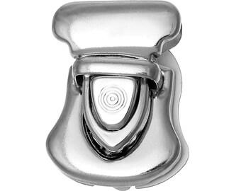 5 Purse Locks - Antique Silver - Handbag - Jewelry - 26x23mm - Ships IMMEDIATELY from California - A493