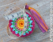 Tape measure 'cyclamen' by ATERGcrochet