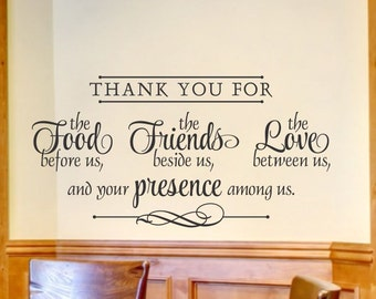 religious wall decal kitchen wall decal religious wall decor kitchen wall decor spiritual wall decal spiritual - Kitchen Wall Decorations
