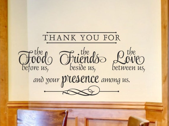 Religious Wall Decal Kitchen Wall Decal Religious Wall Decor