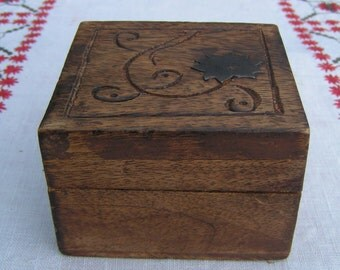 60s 70s Hand Crafted STASH Box Airtight India Carved Metal Flower