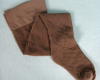 Vintage 1970s 1980s Thigh High Stockings NOS 70s 80s Seamless Hosiery Size A Style 787 / Color Mist