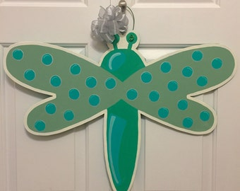 DRAGONFLY Door Hanger, Door Decoration, Fall Decor