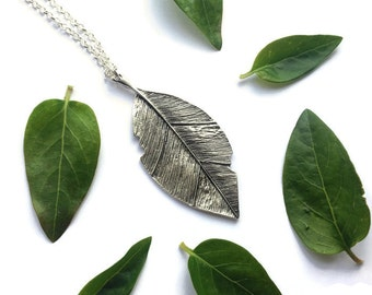 Leaf necklace, botanical jewelry, nature, boho necklace, woodland necklace, autumn leaf pendant, layering necklace, bohemian necklace,