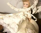 "Betsy McCall Bride Doll Vintage Original / 8"" tall 1950s •read"