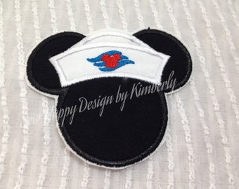 Cruising Mickey Inspired MOUSE Head Characters  Iron on  Appliqué Patch