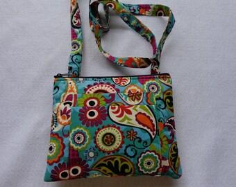 Adult Crossbody Bag: Paisley