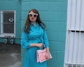 SALE: Vintage Turquoise Kay Windsor Dress