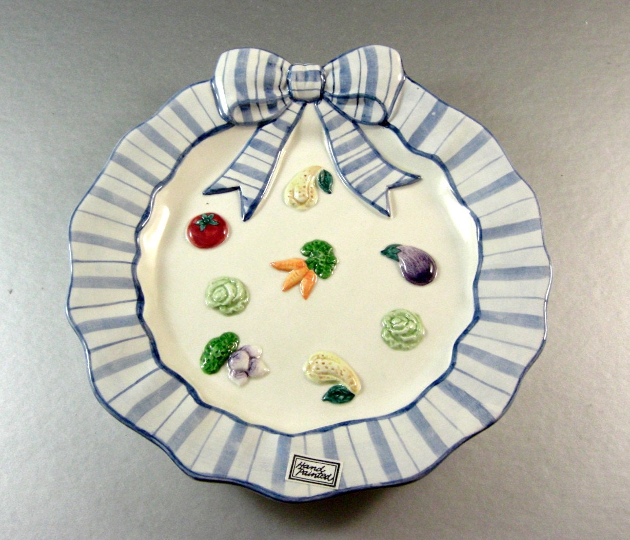 Fitz and floyd petits vegs canape salad sandwich tidbit plate for Fitz and floyd canape plate