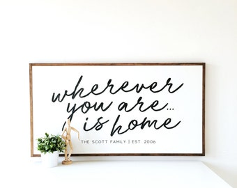 Wherever You Are Is Home - Custom izable