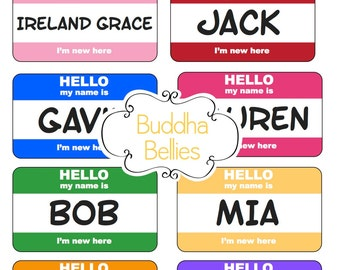 Hello My Name is ....I'm New Here Baby Sticker in Any Color of Your Choice....for Baby Boy or Baby Girl