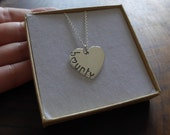 9K Gold personalised heart
