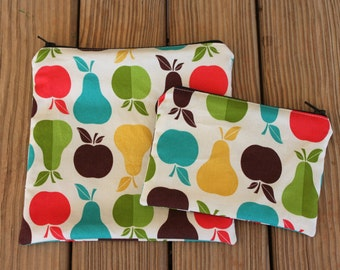 Reusable Sandwich Bag and Snack Bag Combo, Fruit - Zipper Sandwich Bag, Reusable Pouch, Eco-Friendly Bag, Reusable Snack Bag